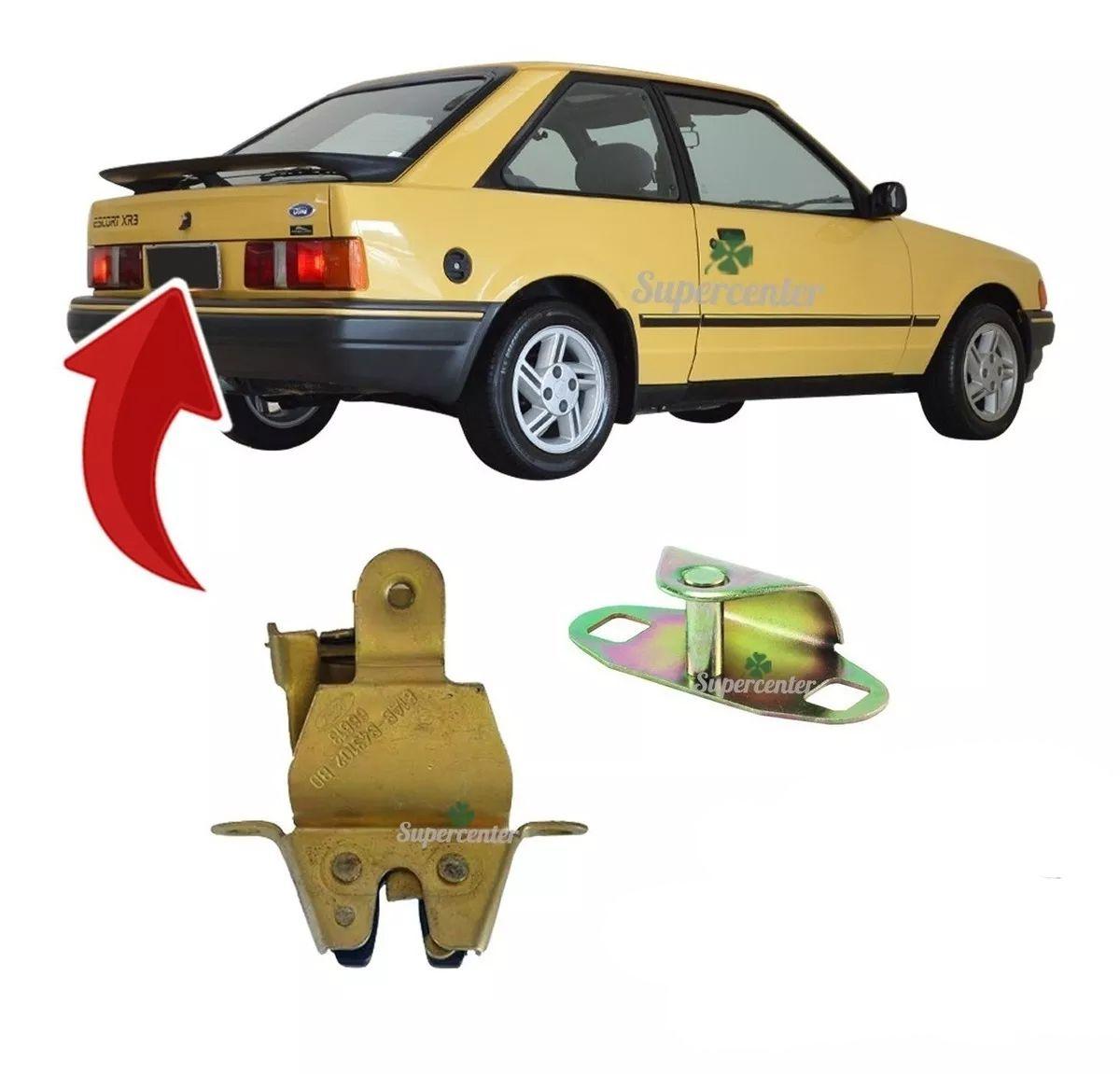 Kit Fechadura Manual Batente Porta Mala Escort 1983 Até 1992