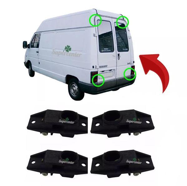 Kit Fechadura Porta Traseira Baú Sup Inf Trafic Space Van