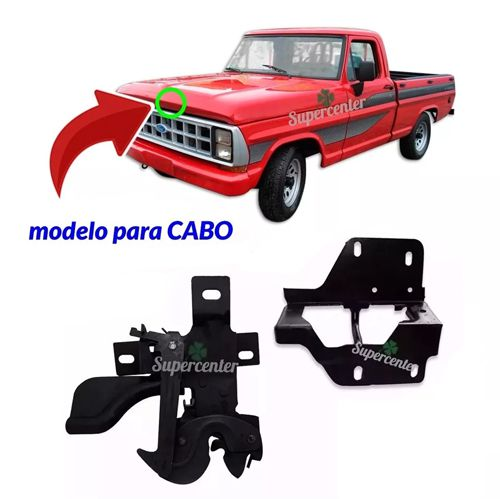 Kit Fechadura Superior Inferior Cabo Capô F1000 F4000 89 A 92
