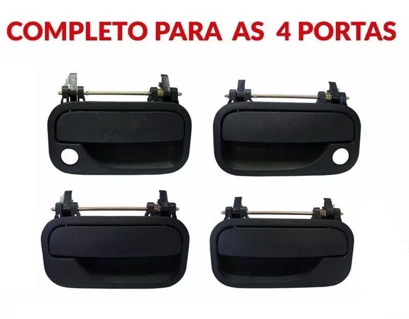 Kit Maçaneta Externa Porta Dianteira Traseira Vectra 1996 Até 2005