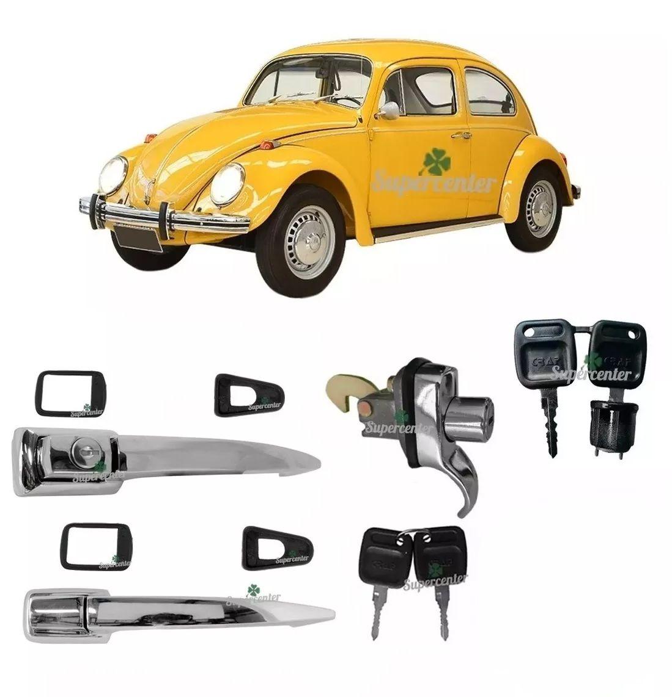 Kit Maçaneta Externa Porta Motor Ignição Chave Fusca 1959 A 1976