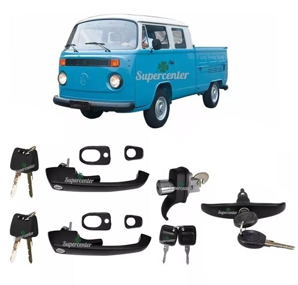 Kit Maçaneta Porta Chave Kombi Cabrita Pick Up Clipper 75/96