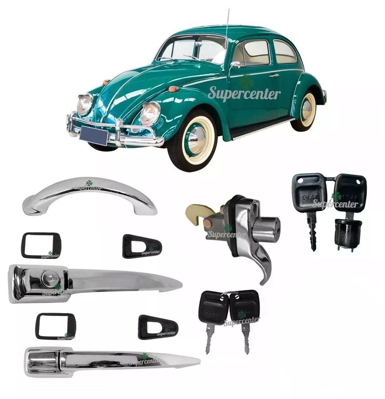 Kit Maçaneta Porta Motor Capô Ignição Chave Fusca 1959 A 1970