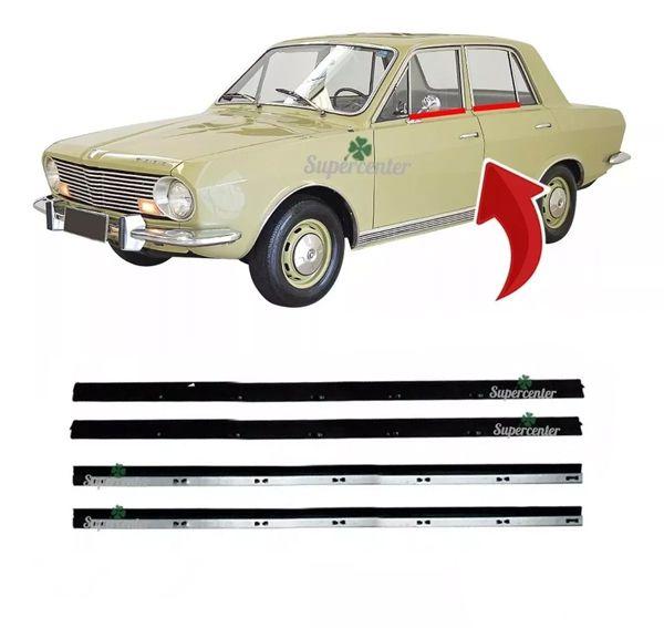 Kit Pestana Externa Vidro Porta Corcel 1 1969 À 77 4 Portas
