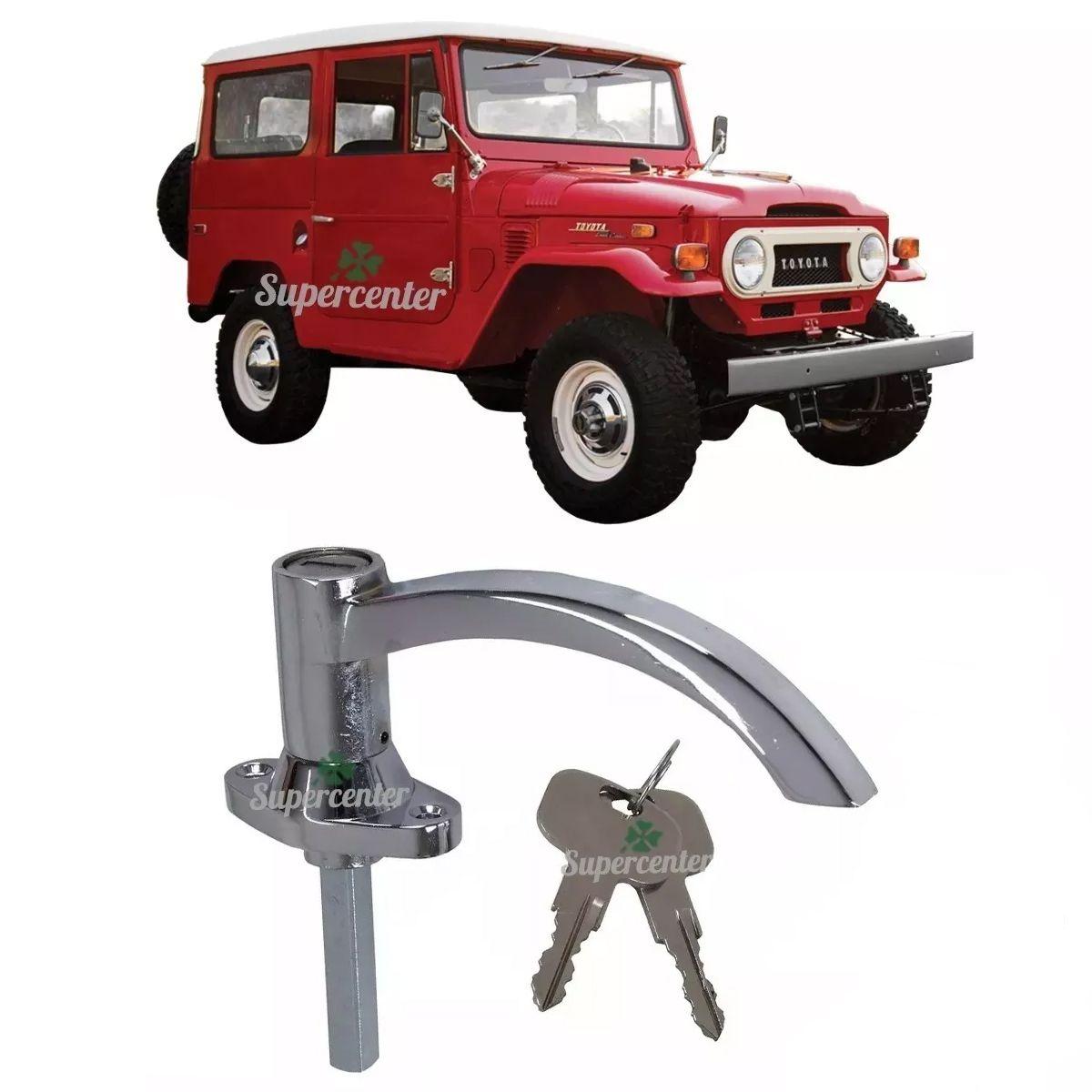 Maçaneta Externa Porta Traseira Chave Cromada Toyota Bandeirante