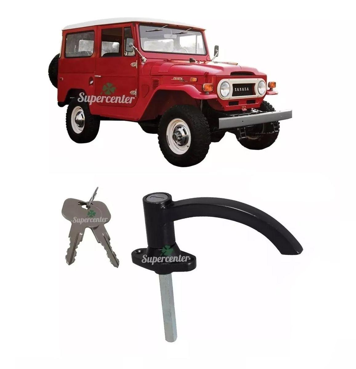 Maçaneta Externa Porta Traseira Chave Preta Toyota Bandeirante