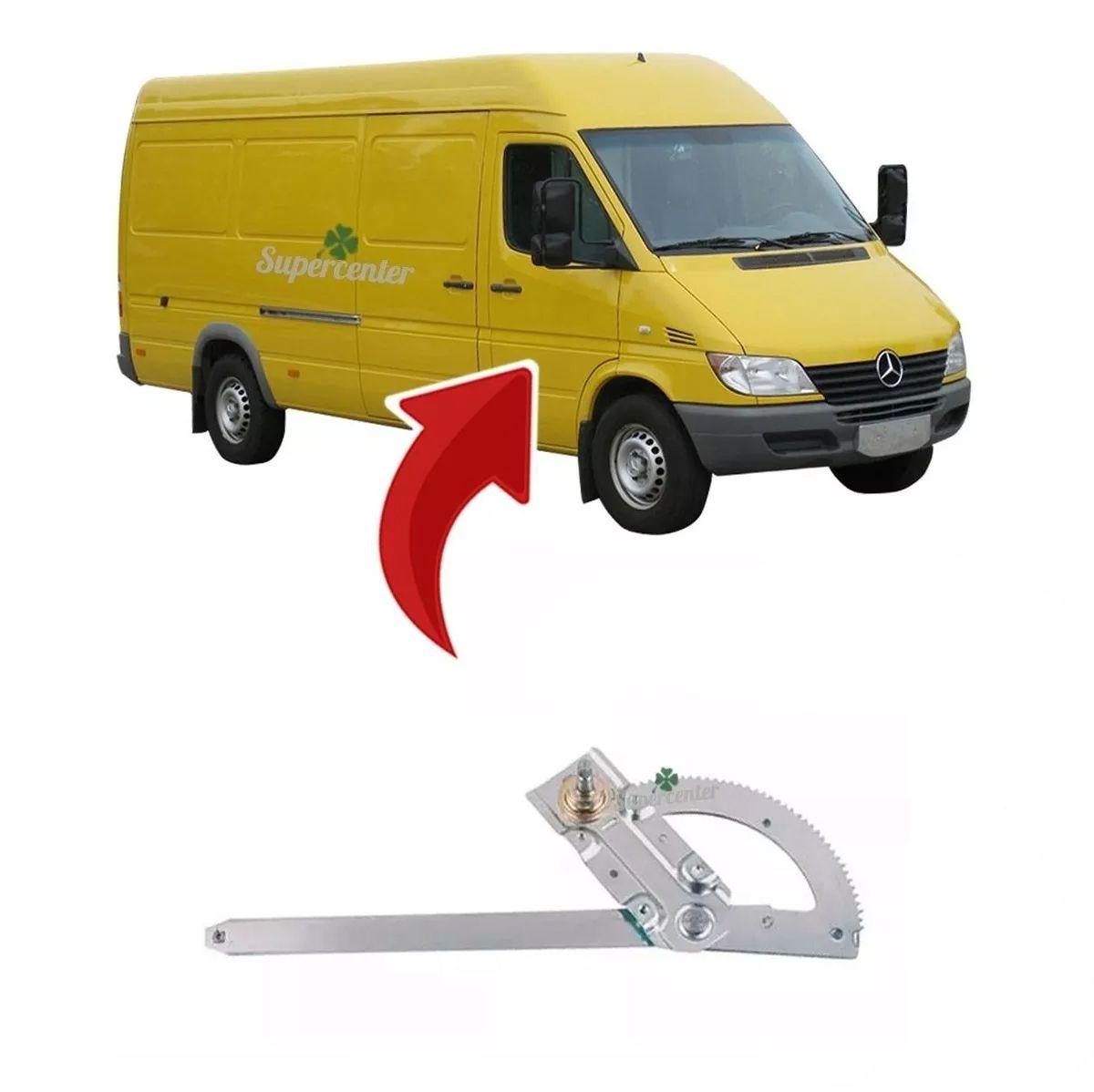 Máquina Vidro Manual Porta Dianteira Benz Sprinter 1997 A 2012