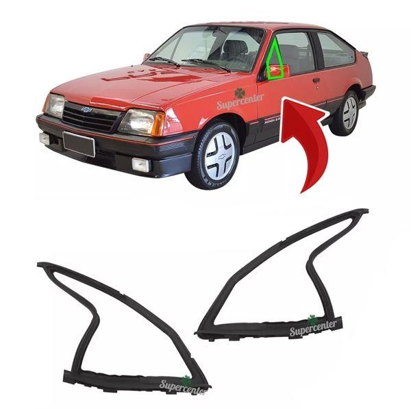 Par Borracha Guarnição Vidro Quebra Vento Monza 1986 A 1996