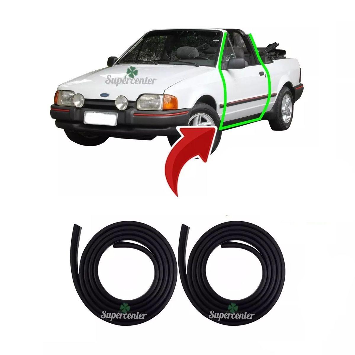 Par Borracha Porta Escort Conversível Xr3 1987 A 1992
