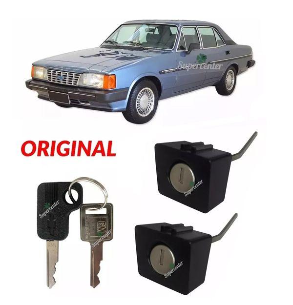 Par Cilindro Botao Porta Chave Caravan Opala 1985 A 1992