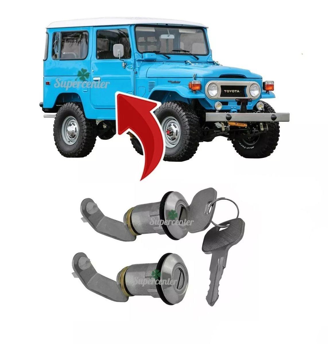 Par Cilindro Porta Chave Toyota Bandeirante 1985 À 2001