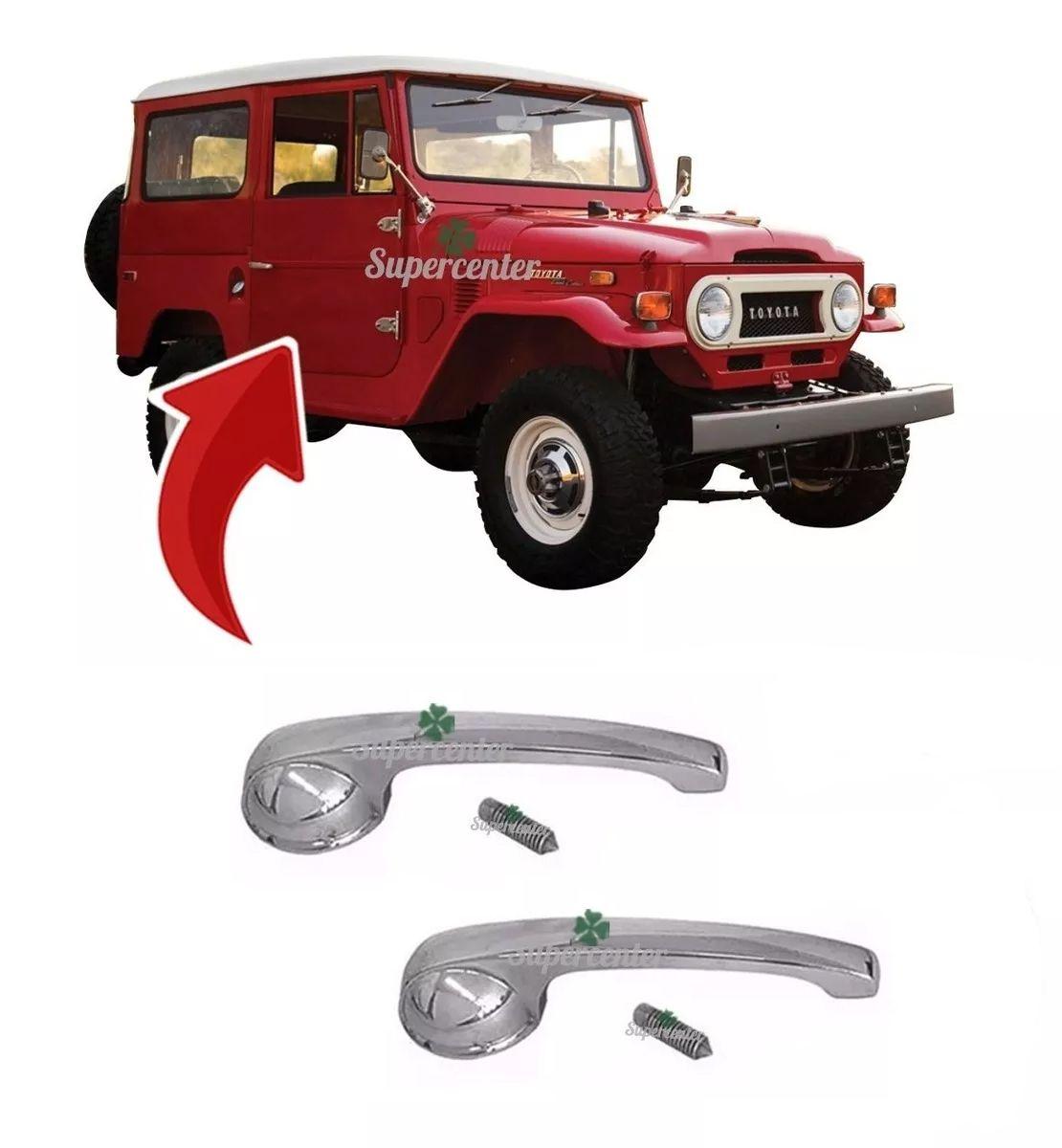 Par Maçaneta Interna Porta Toyota Bandeirante 1983 A 1985