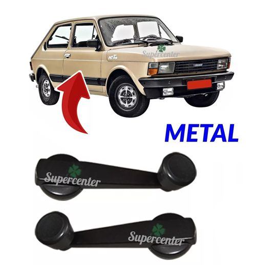 Par Manivela Do Vidro Fiat 147 Metal