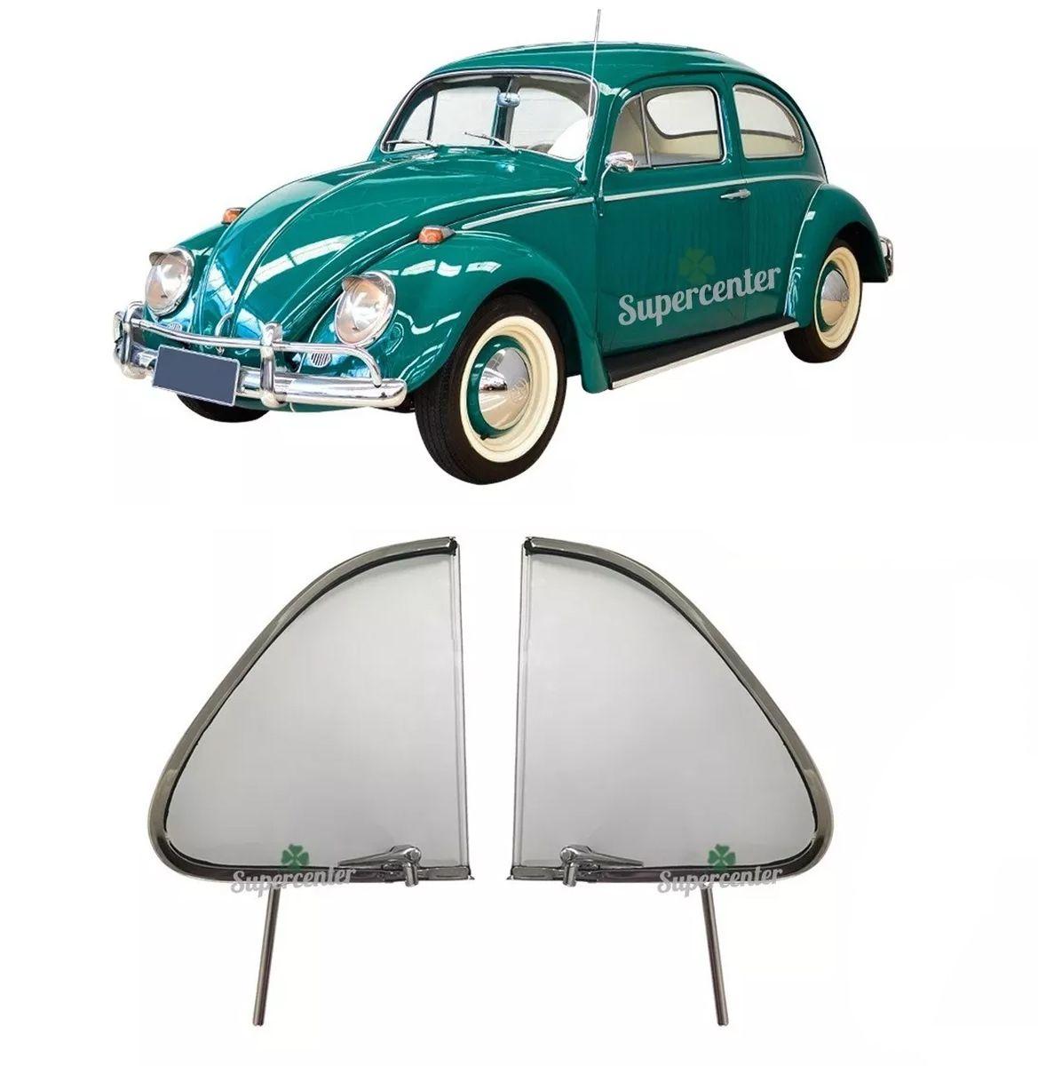 Par Quebra Vento Completo Com Vidro Fusca 1959 até 1970