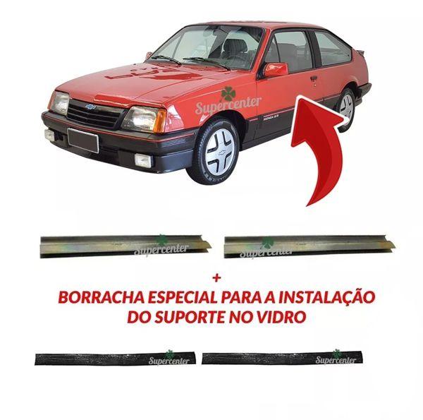 Par Suporte Do Vidro Da Porta Monza Classic Hatch Sedan