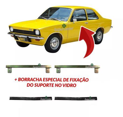 Par Suporte Vidro Porta Borracha Chevette 73 Até 82 Marajó