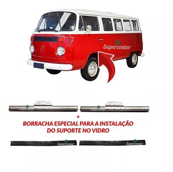 Par Suporte Vidro Porta Kombi Clipper Carat 1975 Até 2013