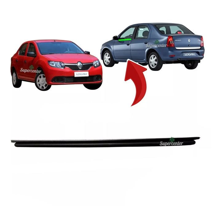 Pestana Externa Vidro Porta Dianteira Traseira Renault Logan