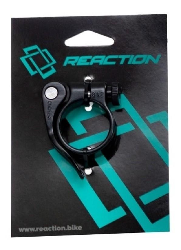 Abraçadeira Selim Alumínio Bicicleta Reaction 31.8mm Preto