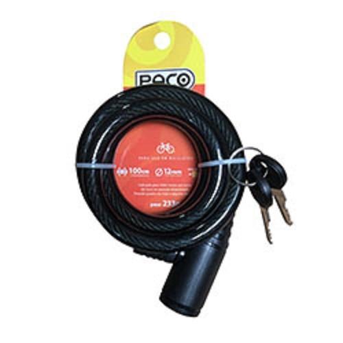 Cadeado Para Bicicleta Com Chave - 12mm X 1000mm Paco