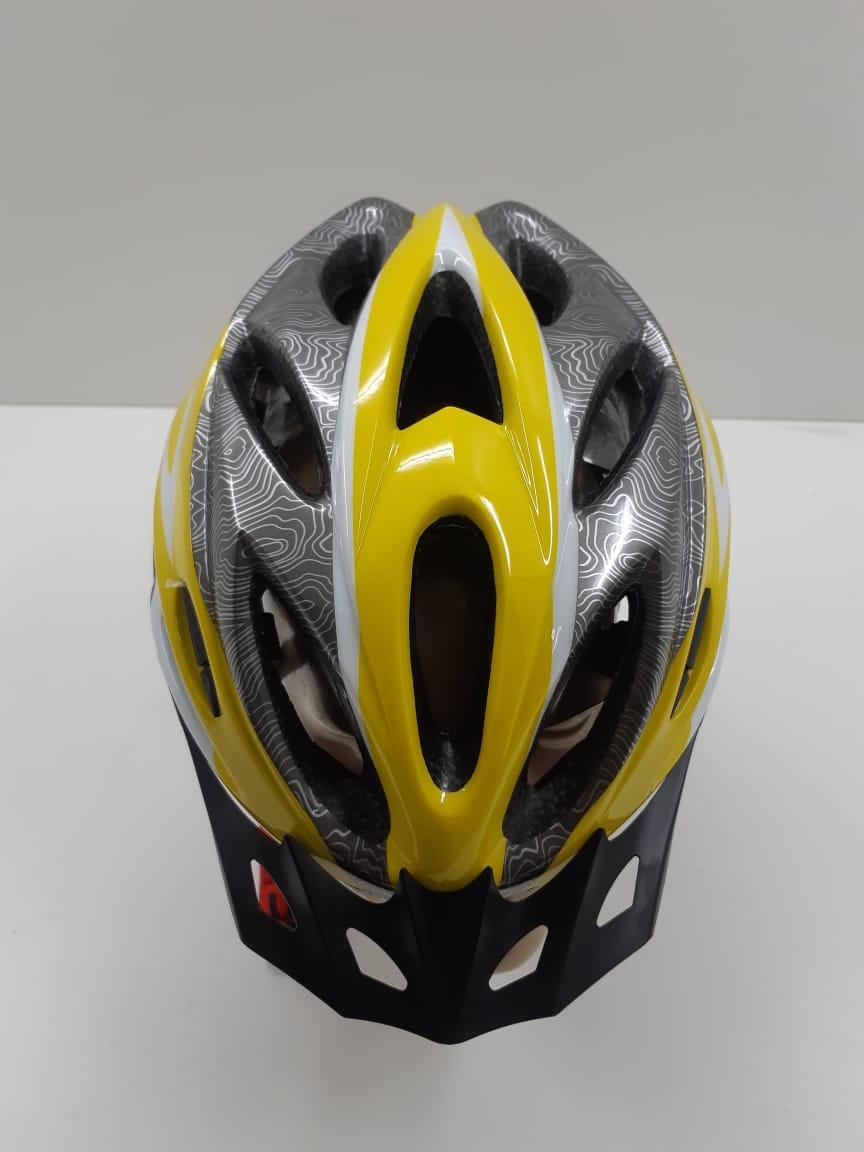 Capacete Element Com Regulagem e Led Amarelo