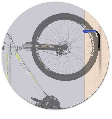 Suporte Vertical De Parede Para 1 Bicicleta Amarelo