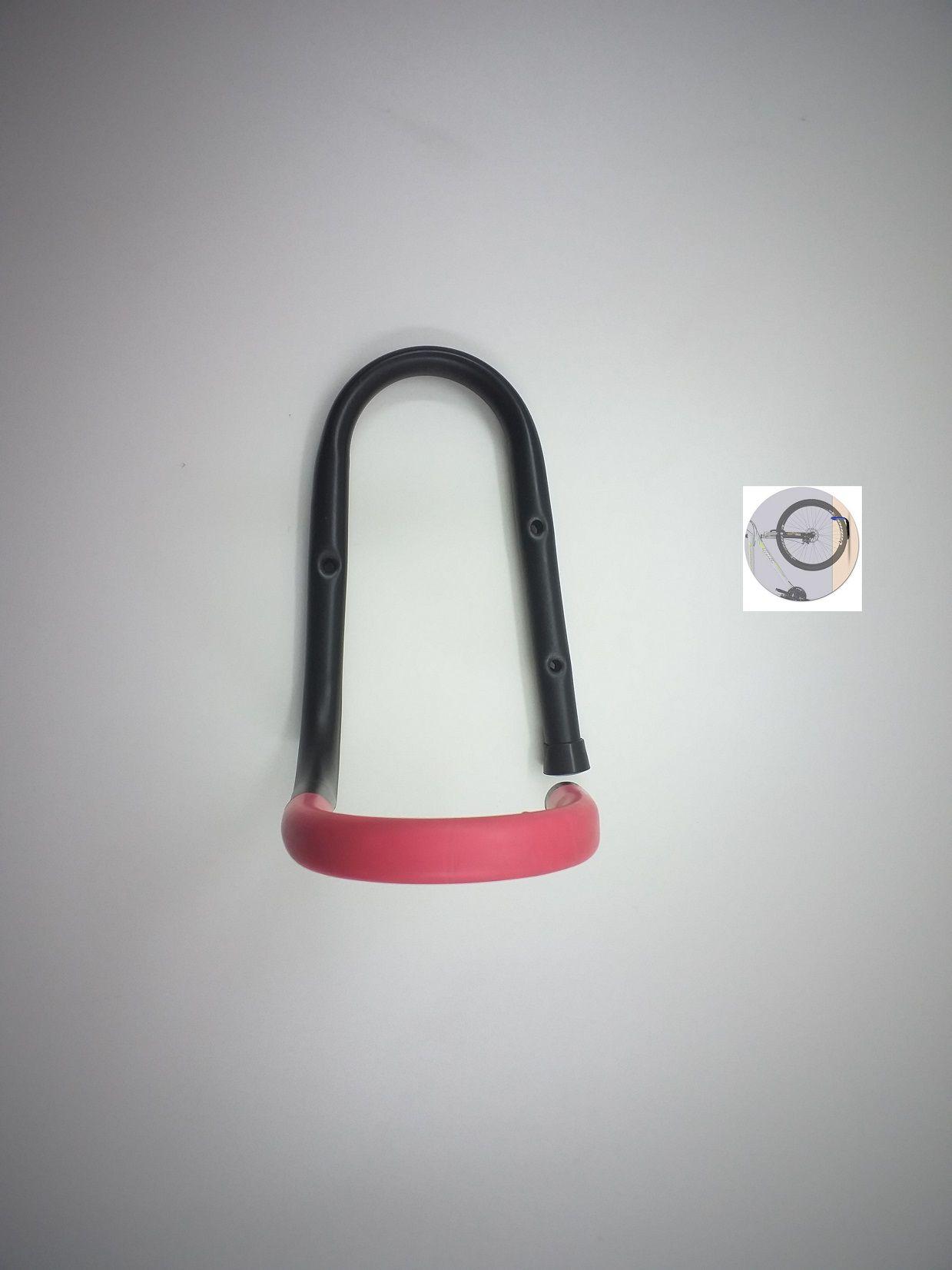Suporte Vertical De Parede Para 1 Bicicleta Vermelho