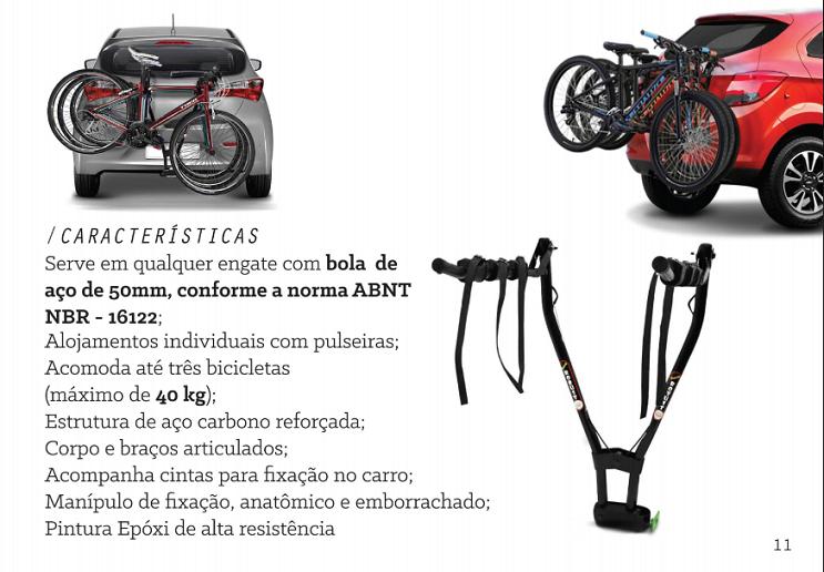 Transbike De Engate Para 3 Bicicletas