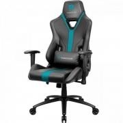 Cadeira Gamer ThunderX3 YC3, Preta/Ciano
