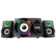 Caixa de Som Subwoofer Gamer K-Mex LED Multicolor 2.1 Stereo - SS-9800