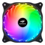 Cooler Fan C3Tech Storm 12cm c/ LED Multicolorido F9-L150RGB