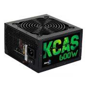 Fonte Aerocool KCAS 600w 80 Plus