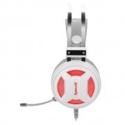 Headset Gamer Redragon Minos Lunar White, USB, Driver 50mm, Plug And Play, Branco - H210W
