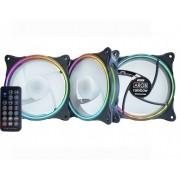 Kit c/ 3 Fans Cooler k-mex ARGB Slim Ring - AK-AAD1