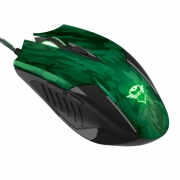 Kit Gamer Trust GXT 781 Rixa Camo Gaming - Mouse, LED + Mousepad, Control, Verde Camuflado - 23611