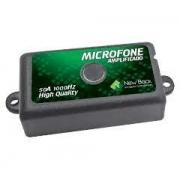 Microfone Amplificado New Back Cftv 50a 10000 Hz