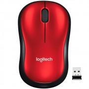 Mouse Logitech M185 Sem Fio Vermelho 1000DPI - 910-003635