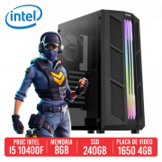 PC Gamer AWM Intel i5 10400F, 8GB, SSD 240GB, 1650 4GB, 500W 80 PLUS