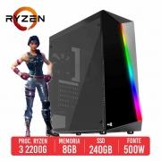 PC Gamer DBS AMD Ryzen 3 2200G, 8GB, SSD 240GB, 500W