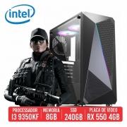 PC Gamer AWM Intel I3 9350KF 8GB SSD 240GB RX 550 4GB 500W