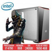 PC Gamer SLR Intel I7 4790 8GB SSD 240B GTX 1650 4GB 500W 80 plus