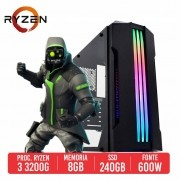 PC Gamer M416 AMD Ryzen 3 3200G 8GB SSD 240GB 600W 80 PLUS