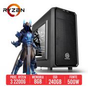 PC Gamer Desert AMD Ryzen 2200G, 8GB, SSD 240GB, 500W