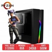PC Gamer Desert Eagle AMD Ryzen 3 3200G 8GB SSD 240GB 500W 80 PLUS