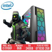 PC Gamer DP28 Intel I3 9100F, 8GB, SSD 240GB, GT 1030 2GB, 500W 80 PLUS
