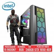 PC Gamer DP28 Intel I5 9600KF 8GB SSD 240GB GTX 1650 4GB 500W
