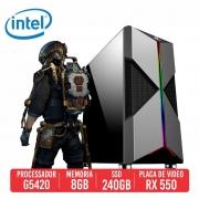 PC Gamer Bizon Intel Pentium Gold G5420 8GB SSD 240GB RX 550 4GB 400W 80 Plus