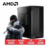 PC Gamer Ghost AMD Athlon 3000G, 8GB, SSD 240GB, 500W