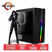 PC Gamer Ghost AMD Ryzen 3 2200G, 8GB, SSD 256GB, 400W 80 PLUS
