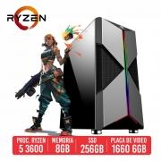 PC Gamer Guardian AMD Ryzen 5 3600 8GB SSD 256GB GTX 1660 Super 6GB 600W